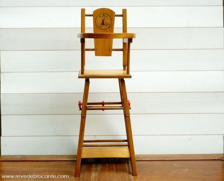 petite chaise haute pour poup e vintage r ve de brocante. Black Bedroom Furniture Sets. Home Design Ideas