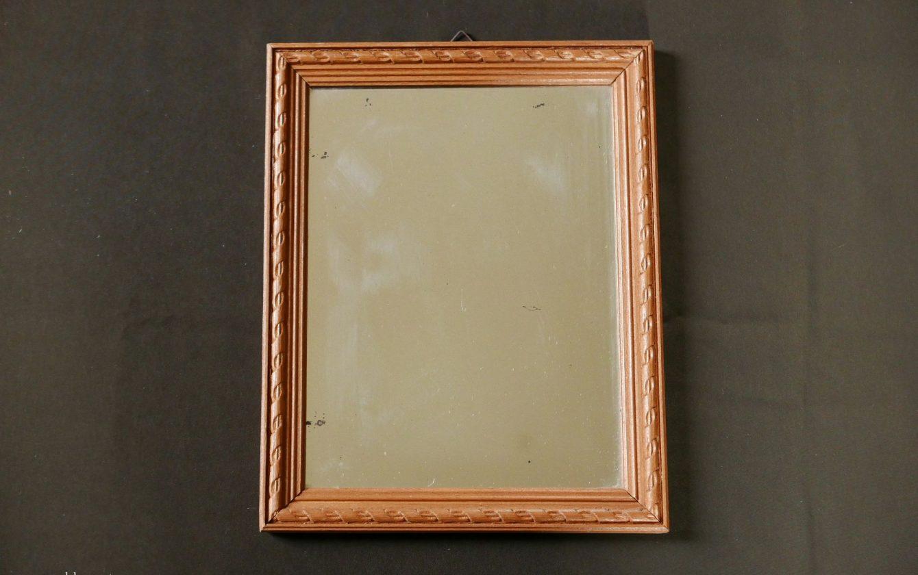 Petit miroir en bois for Petit miroir