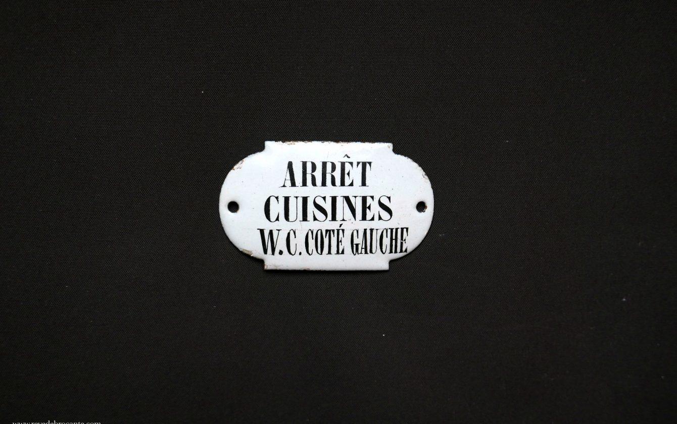 Plaque ancienne maill e r ve de brocante for Plaque emaillee ancienne cuisine