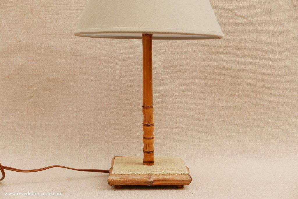 petite lampe en rotin vintage r ve de brocante. Black Bedroom Furniture Sets. Home Design Ideas
